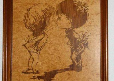 Bild aus Holz