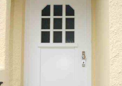 Haustüre in weiß